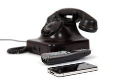 3 generazioni del telefono Fotografie Stock