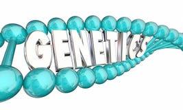 Generazioni della famiglia di eredità del DNA della genetica illustrazione vettoriale