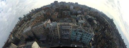 Genere da un pavimento del balcone 14 nel centro della città Kyiv Immagine Stock Libera da Diritti