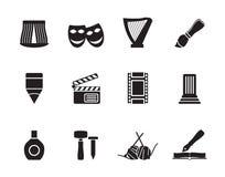 Genere differente della siluetta di icone di arte Immagine Stock