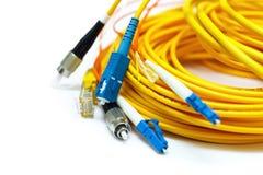 Genere differente di connettori isolati su bianco Fotografia Stock