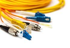Genere differente di connettori isolati su bianco Fotografia Stock Libera da Diritti
