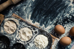 Genere differente di farina Immagini Stock Libere da Diritti