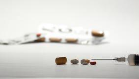 Genere differente di farmaco per il trattamento differente Immagine Stock