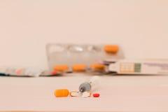Genere differente di farmaco per il trattamento differente Fotografie Stock