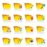 Genere differente di icone della cartella Immagini Stock Libere da Diritti
