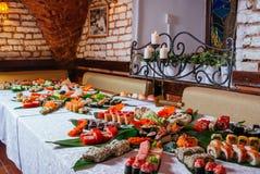 Genere differente di sushi fotografia stock libera da diritti