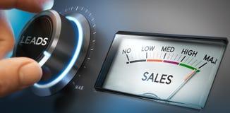 Genere más ventajas y ventas ilustración del vector