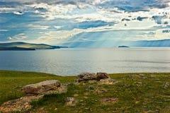 Il piccolo mare del lago Baikal Fotografie Stock Libere da Diritti