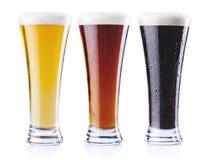 Genere tre di birra fotografia stock libera da diritti