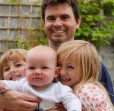 Generi con il suo figlio del bambino e del derivato Fotografia Stock