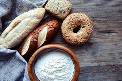 Generi di pane immagine stock