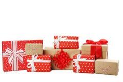 Generi differenti di contenitori di regalo Fotografia Stock