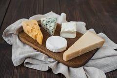 Generi differenti di formaggio Fotografia Stock