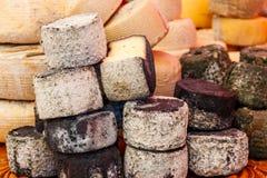 Generi differenti di formaggio su una tavola immagini stock