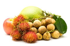 Generi differenti di frutta fotografie stock