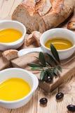 Generi differenti di olio di oliva Fotografie Stock