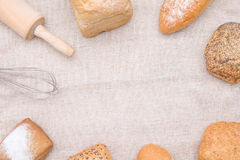 Generi differenti di panini Fotografia Stock