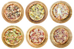 Generi differenti di pizza Immagini Stock Libere da Diritti