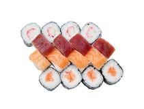Generi differenti di rotolo di sushi fotografia stock libera da diritti