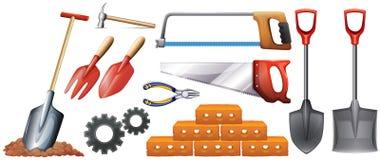 Generi differenti di strumenti della costruzione illustrazione di stock