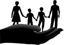 Generi i bambini che del padre la famiglia sicura fissa a disposizione Immagini Stock