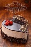 Generi il dolce di cioccolato del giorno del ` s nella forma di cuore Fotografia Stock Libera da Diritti
