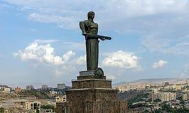 Generi la statua o Mayr dell'Armenia hayastan a Yerevan Immagini Stock Libere da Diritti