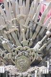 Generi, trono reale fatto delle spade del ferro, sedile del re, symbo Fotografia Stock Libera da Diritti
