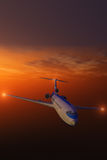Generic Airliner at Sunset Royalty Free Stock Photo