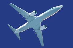 Generic airplane model. With clipping path Stock Photography