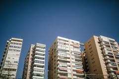 Generic aparment buildings at Costa del Sol, Spain. Royalty Free Stock Photography
