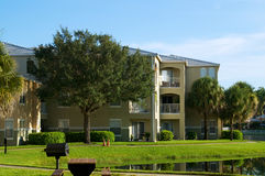 Generic apartment building in florida Stock Photos