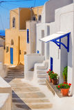 Generic architecture, Akrotiri village on Santorini island Stock Images