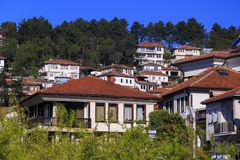 Generic architecture of Ohrid town in FYR Macedonia royalty free stock photography
