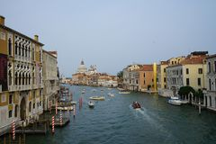 Grand Canale seen from Ponte dell'Academia- Venice Royalty Free Stock Photos