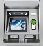 Generic ATM or Automated Teller Machine. 3D illustration Stock Images