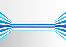 Generic background with multiple blue colored horizontally expanding lines forming a virtual room.  Royalty Free Stock Image