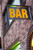 Generic Bar Sign Royalty Free Stock Image