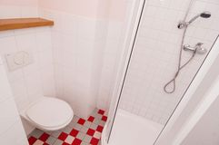 Generic bathroom. Wide angle partial view of modern bathroom Stock Photo