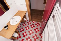 Generic bathroom. Wide angle partial view of modern bathroom Stock Images