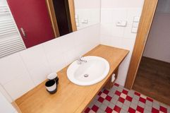 Generic bathroom. Wide angle partial view of modern bathroom Royalty Free Stock Photo