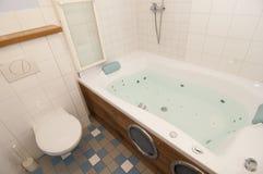 Generic bathroom. Wide angle view of modern bathroom Royalty Free Stock Photos