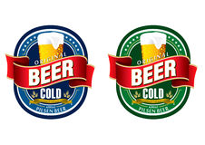 Generic beer label logo. Generic beer label in blue and green Stock Photography