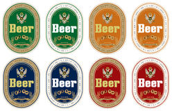 Generic beer label. In four colors Royalty Free Stock Photos