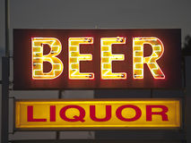 Generic Beer and Liquor Sign Royalty Free Stock Photo