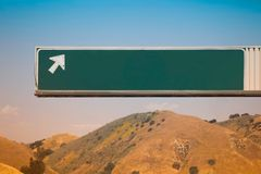 Generic Blank Freeway Exit Sign Royalty Free Stock Images