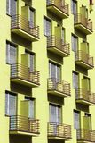Generic block of flats. Average city residential property in Timisoara, Romania stock photos