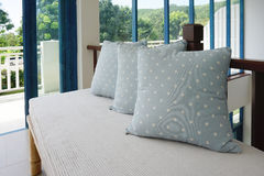 Generic blue pattern pillow Royalty Free Stock Images