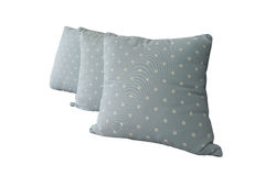 Generic blue pattern pillow isolated Stock Photography